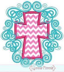 Flourish Cross Applique - 4 Sizes! | Religious | Machine Embroidery Designs | SWAKembroidery.com Lynnie Pinnie