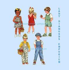 Simplicity 7992 7957 Boys & Girls Bib Overalls Short-alls
