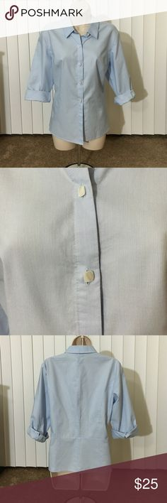 Talbots button down Light blue Talbots button down shirt. Size 14. Like new condition. Talbots Tops Button Down Shirts