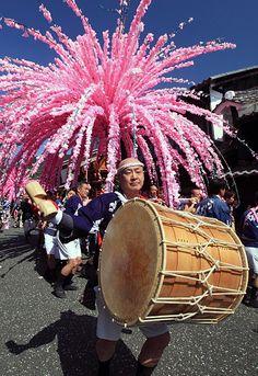 Spring festival, Mino, Gifu, Japan