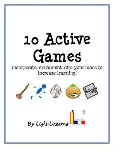FREE Incorporate movement into your class to increase learning! Games that incorporate movement can help increase academic performance and long-term memory, help awaken the mind, and are fun and engaging.
