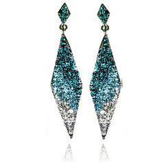 Lemonade Crystal Dizzy Diamond Earrings Blue - 4EverBling