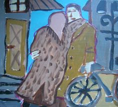 She spots him standing by his bicycle and gives him a warm embrace standing on…