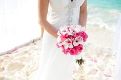 Pink Roses & White orchids Bouquet