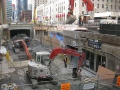 Construction of the second platform at Union Station Greater Toronto Area, Union Station, Two By Two, Street View, Platform, Construction, Building, Wedge, Heel Boot