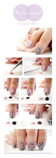 tutorial de unhas decoradas oncinha