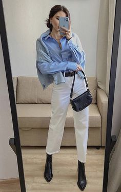 Classy Outfits, Chic Outfits, Trendy Outfits, Fashion Outfits, Outfit Jeans, Fall Winter Outfits, Autumn Winter Fashion, Mode Dope, Minimalist Fashion Women