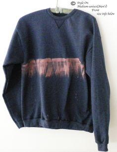 Sweatshirt,  crewneck sweatshirt, Blue crewneck sweatshirt, Dip dye, crewneck sweatshirt, Jumper, Sweater, Boho, acid wash, Sweatshirt by Styleon on Etsy