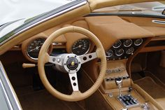 That speedometer sure doesn't show too much use of this unique Lamborghini Miura Roadster Zn75 edition.