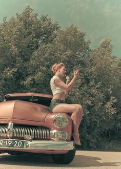 If we could get a classic car for this shoot...The excitement level will be off the charts!