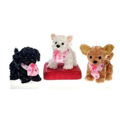 "9"" 3 Assorted Standing Dogs with Bandana Case Pack 12 by DDI. $125.16. 9"""" 3 Assorted Standing Plush Dogs wearing a heart print bandana and holding a valentine heart in it's mouth. Dogs are black, white, and tan."" Case Pack 12 Please note: If there is a color/size/type option, the option closest to the image will be shipped (Or you may receive a random color/size/type)."