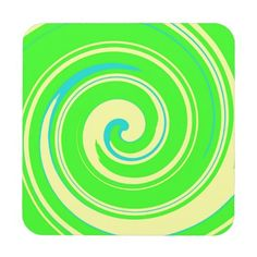 Cool Green and Yellow Abstract Beverage Coaster
