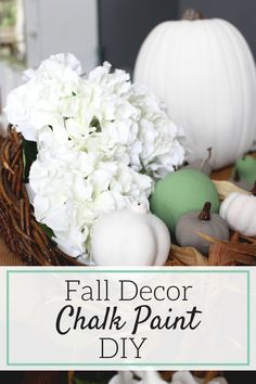 Makeover your old fall decor with this easy chalk paint DIY. Easy, cheap and…