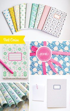The Vert Cerise shop on Etsy. Look at those notebooks. My birthday is in July, by the way!