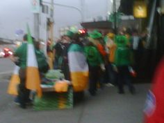 Enthusiastic Irish rugby fans