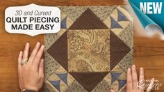 Get the look of curved and dimensional #quilt piecing without the tricky work. Learn how to make a tulip block using this technique that consists of only rectangles and squares. http://www.nationalquilterscircle.com/video/3d-curved-quilt-piecing-made-easy/?utm_source=pinterest&utm_medium=organic&utm_campaign=A219 #LetsQuilt
