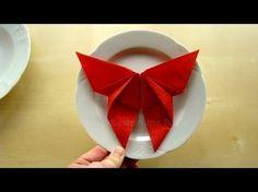 Como fazer guardanapo em forma de estrela - decoracao para natal: Estrela de Natal - YouTube