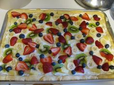 I've been looking for a fruit pizza recipe that doesn't use the sugar cookie crust. Will definitely have to try this one!