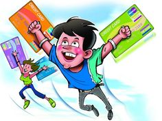 Youth drive card payments in country - The Economic Times
