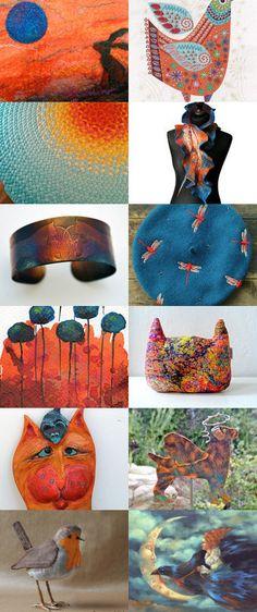 Oranges and blues-my love by Skadia Bojakowska-Radwan on Etsy--Pinned with TreasuryPin.com Blues, Sweet Home, Cool Stuff, My Love, Etsy, Design, Decor, Style, Swag