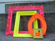 love these neon frames #DIY