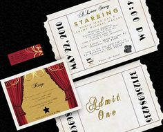 hollywood invitation