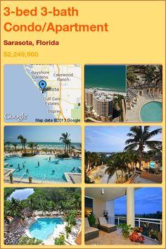 3-bed 3-bath Condo/Apartment in Sarasota, Florida ►$2,249,900 #PropertyForSale #RealEstate #Florida http://florida-magic.com/properties/7733-condo-apartment-for-sale-in-sarasota-florida-with-3-bedroom-3-bathroom