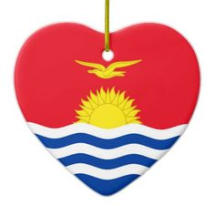 KIRIBATI CERAMIC ORNAMENT Kiribati Flag, Wedding Invitation Wording, National Flag, Activity Games, Dog Bowtie, Flags, Art For Kids, Wedding Gifts, Create Yourself