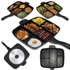 This multi-sectional skillet. | 27 Ingeniously Designed Products That Will Simplify Your Life