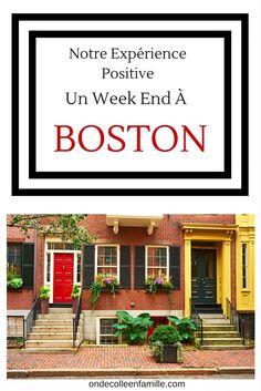 Notre expérience en famille à Boston pour un week end.