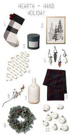 Dani Rose Design blog // Hearth & Hand, Magnolia, Target, Christmas, Holidays, 2018, neutral, plaid, wood garland Dani, Design Blog, Rose Design, Christmas Stuff, Hearth, Neutral, Target, House Ideas, Holiday Decor