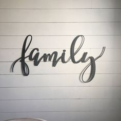 "Family 43""x18"" metal sign"