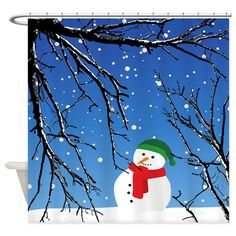 Shop unique Shower Curtains from CafePress. Great designs on professionally printed shower curtains. Snowman Shower Curtain, Holiday Shower Curtains, Tree Branches, Special Day, Cold, Halloween, Disney Characters, Christmas, Design