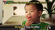 Minguk's eating broadcast   The Return of Superman