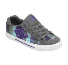 Womens Chelsea DC shoes- Grey & purple