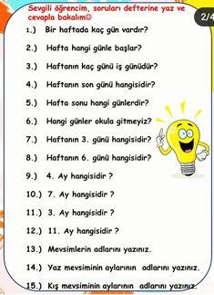 Math Multiplication Worksheets, Turkish Lessons, Learn Turkish Language, Kids Education, Child Development, Grade 1, Homeschool, Student, Learning
