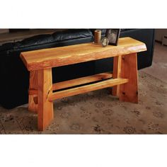 Slab Top Sofa Table Downloadable Plan - making  your own slab furniture is a great way to save money.