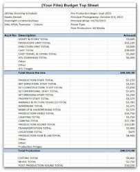 Reality Show Production Budget Template Excel Google Search