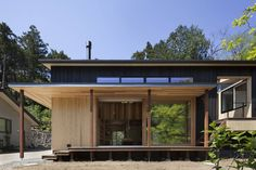 Modern houses by han環境・建築設計事務所 modern wood wood effect Building Design, Building A House, Traditional Japanese House, Style Japonais, Prefabricated Houses, Wooden House, Modular Homes, Next At Home, House In The Woods