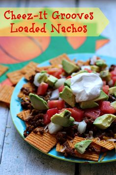 Game Day is not complete until you've enjoyed our Cheez-It Grooves Loaded Nachos! Easy Snacks, Yummy Snacks, Yummy Appetizers, Appetizer Recipes, Family Recipes, Family Meals, Easy Dinner Recipes, Dinner Ideas, Fun Cooking