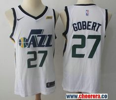Men s Utah Jazz  27 Rudy Gobert White 2017-2018 Nike Swingman Stitched NBA  Jersey 534fc38e6