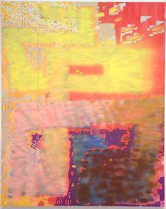 Keltie Ferris, Bonjour Monsieur Ferris,  2012,  Oil and acrylic on canvas 110 by 88 in.