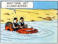 Even Tintin knew a Land Rover was better