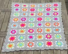 Ravelry: missprim100's Summer garden neon blanket