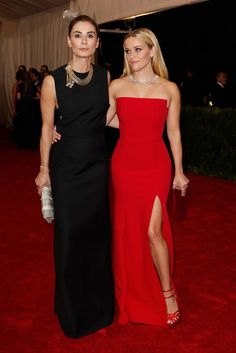 Francesca Amfitheatrof and Reese Witherspoon im Jadon Wu at the Met Gala May 4, 2015