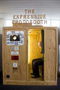 Expressive Photobooth: 'The booth provokes different expressions,' explains Tim Hunkin. 'It'll open a creaking trap door above your head to make you look up'
