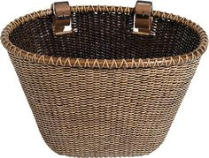 Nantucket Bike Basket CompanyLightship Collection Oval/Dark Stain Bicycle Basket (Brown, 14 X 10 X 8.5) Nantucket Bike Basket Co. http://smile.amazon.com/dp/B0048LP6GA/ref=cm_sw_r_pi_dp_O6i1tb1ZE3W8W30R