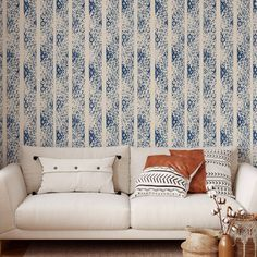 Line Pattern Peel and Stick Wallpaper - Smooth Wall Decal / 1 roll: 24W x 108H