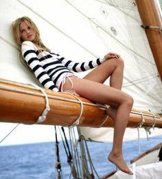 Sailing fashion @YachtsMag #yachtsmag #girls                                                                                                                                                      More