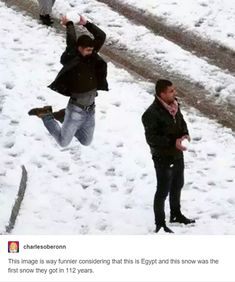 The small upsides to drastic climate shift, like snowball sneak-attacks in Egypt caught on camera